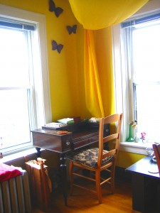 Sun room writing desk